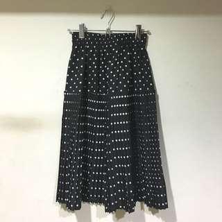 澳洲古著店購入 草間彌生的黑白點點百摺設計裙