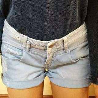 ZARA TRF Lightwash Denim Shorts