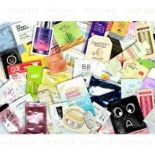 Free samples with each purchase