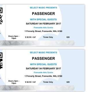 2x Passenger Fremantle Tickets 4th Feb