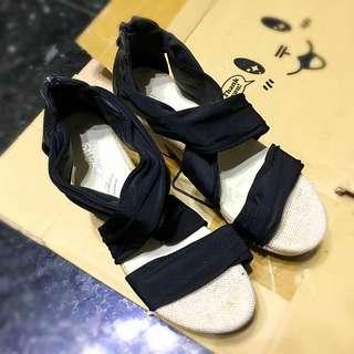 🚚 ✨交叉緞帶楔形鞋 涼鞋 高跟鞋✨