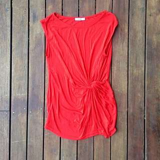 Knotted Sleeveless Top