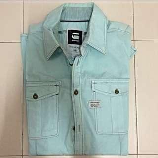 G-Star Raw Light Blue Long Sleeves Shirt Size S