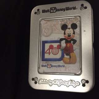 Disney Playing Cards 40th Anniversary
