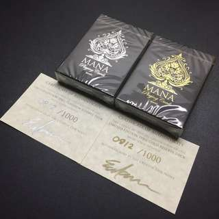 Mana No.3 Sybil Limited Edition Sybil Gold and Platinum Reserve Playing Cards