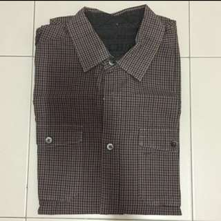 DKNY Jeans Checkered Long Sleeves Shirt / Tee / Formal Wear - Size S