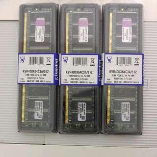 金士頓 DDR400 512MB *3