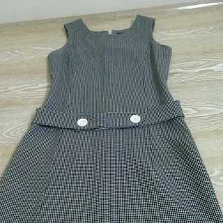千鳥紋 格菱紋洋裝