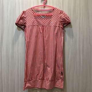 ☆scottish house紅白格子洋裝M號
