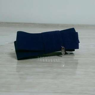 深藍蝴蝶結鯊魚夾