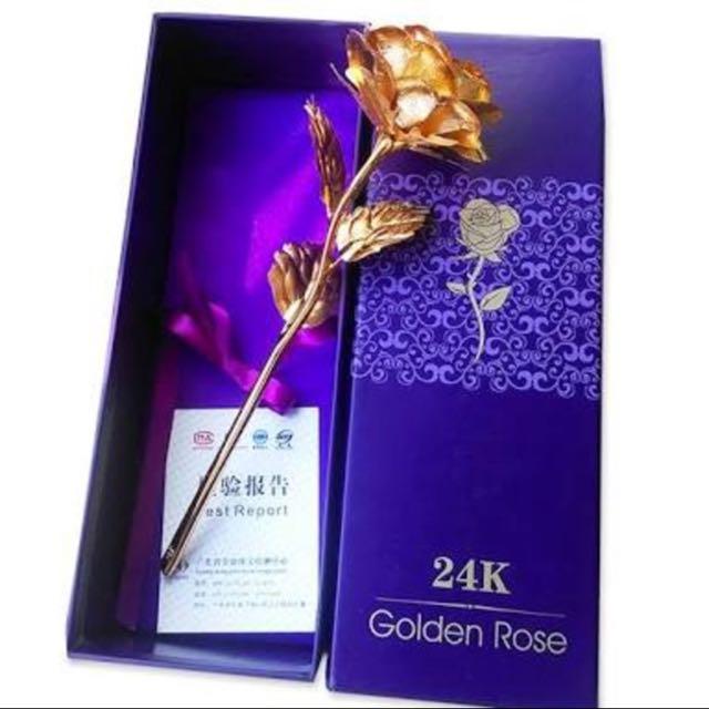 24k Golden Flower