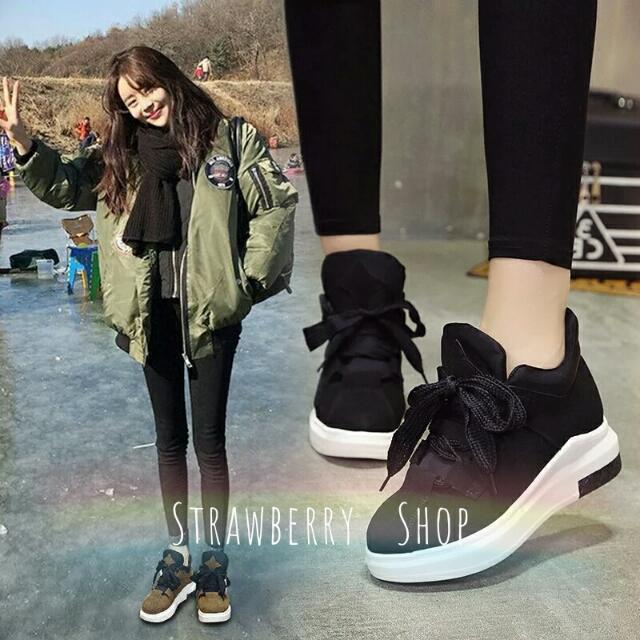 🎀超美版型👉韓版厚底內增高休閒鞋(預購7-14)