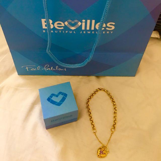 9 Karat Gold Bracelet With Birthstone