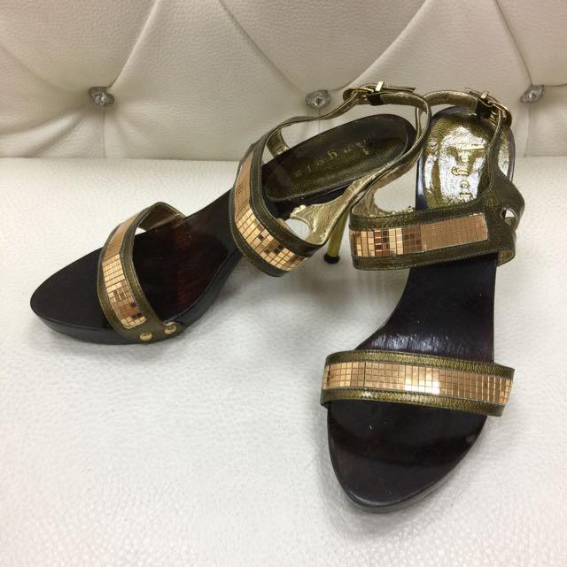 韓版時尚裸踝高跟涼鞋
