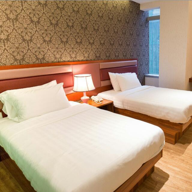月租 - 標準雙床房  (Monthly Rates, Standard Twins Bed Room)