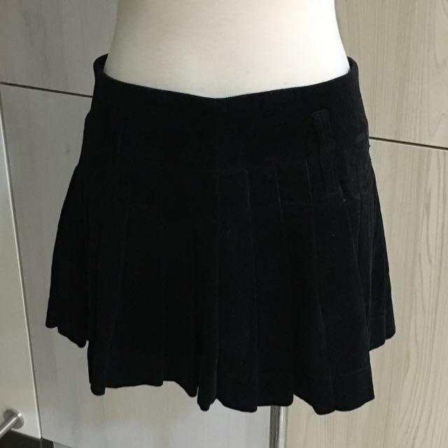 專櫃正貨 JOJO 絨布 百折 學院風 短裙