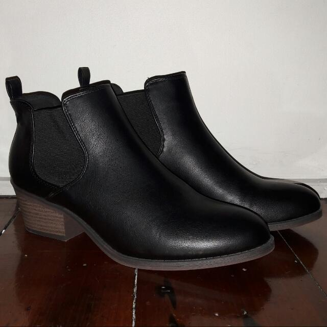 A Pair Of Winter Leather Boots