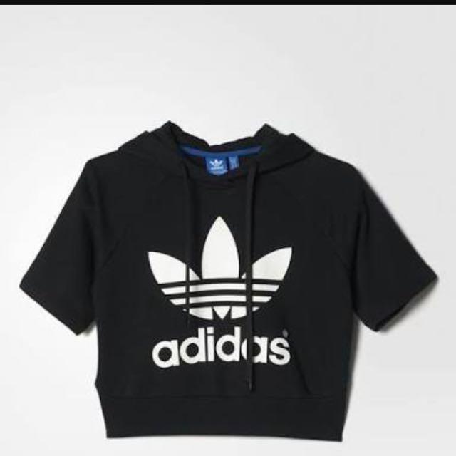 Adidas Hooded Crop Top