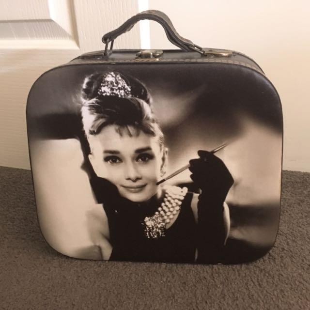 Audrey Hepburn Vintage Inspired Decorative Suitcase