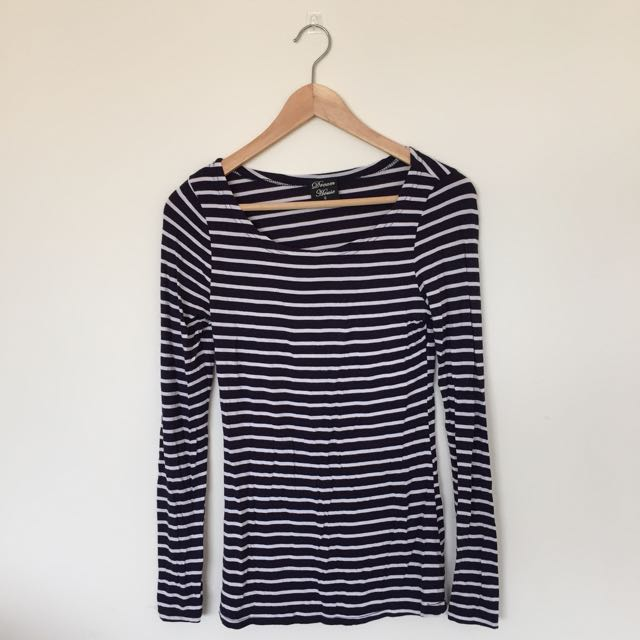 Basic Stripe Long Sleeve T