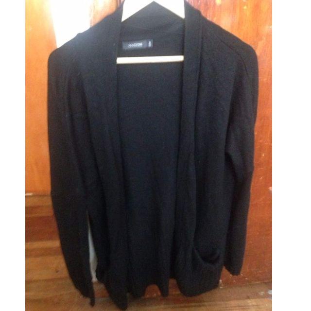 Black Merino Cardigan