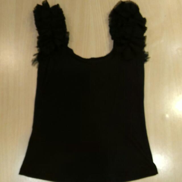Black Sleeveless Top (S-M)