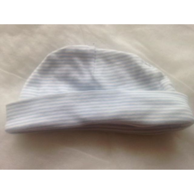 Blue and White Stripped Beanie (S)