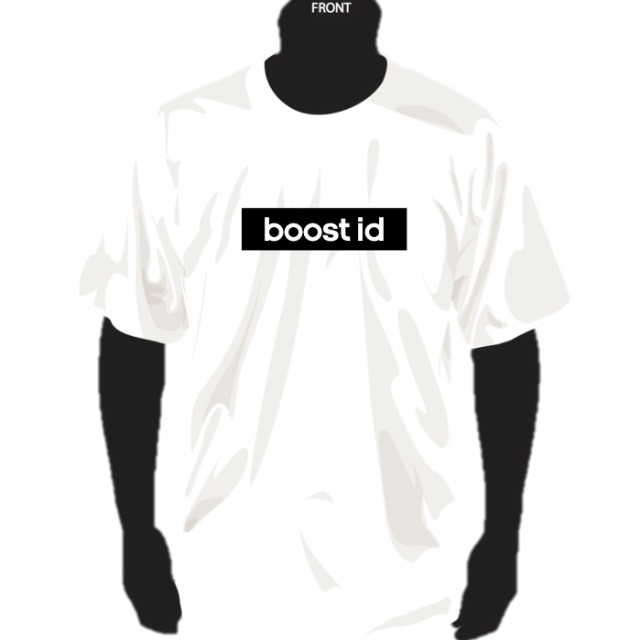 "BOOST ID official tee ""Essential Pack"" White Tee x Black Bogo"