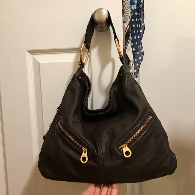 Brown Danier Leather Purse