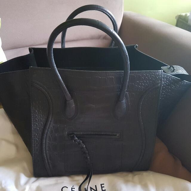 Celine Croc Stamped Phantom