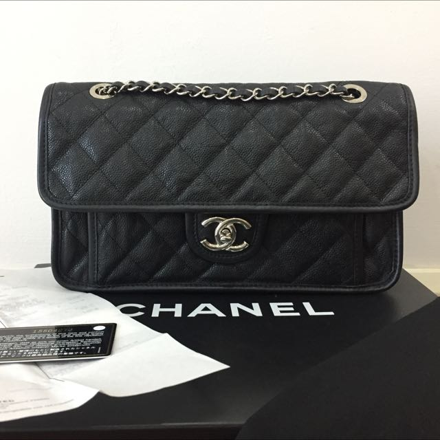 301ff093c304 Chanel French Riviera Medium Flap Bag Caviar SHW Authentic