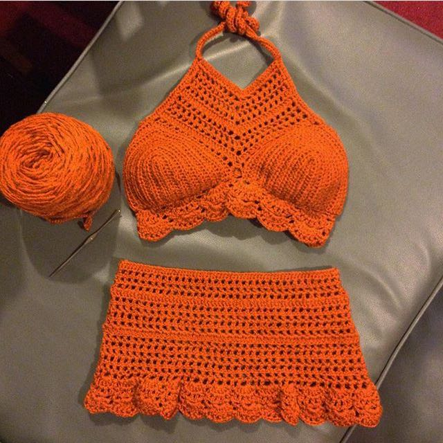 Crocheted Bikini Set