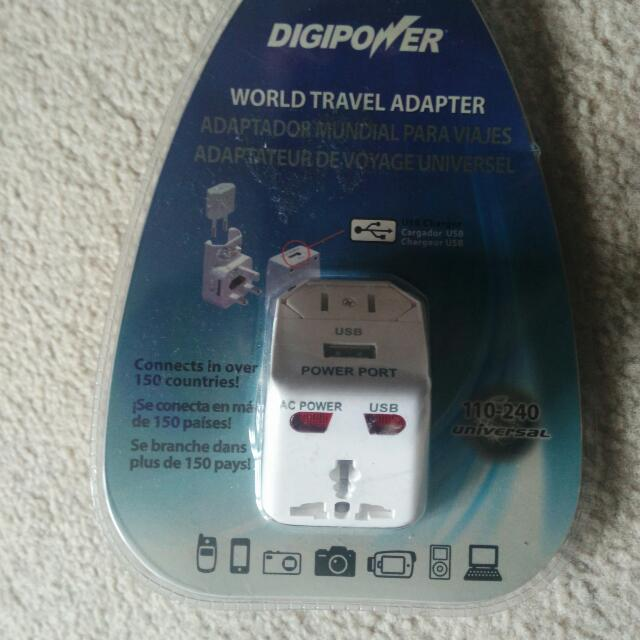 Digipower World Travel Adapter With USB (ACP-WTA)