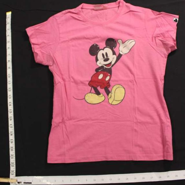 Disney Pink Mickey Mouse Graphic Tee Shirt