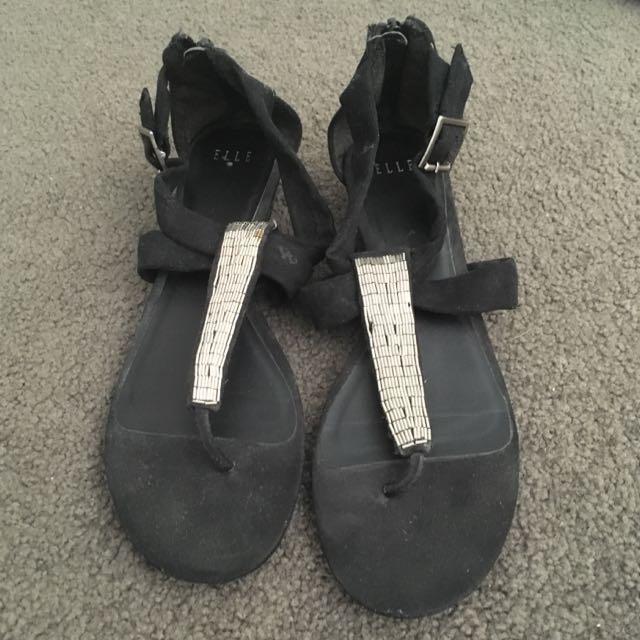 Elle Sandals Black Size 8.5