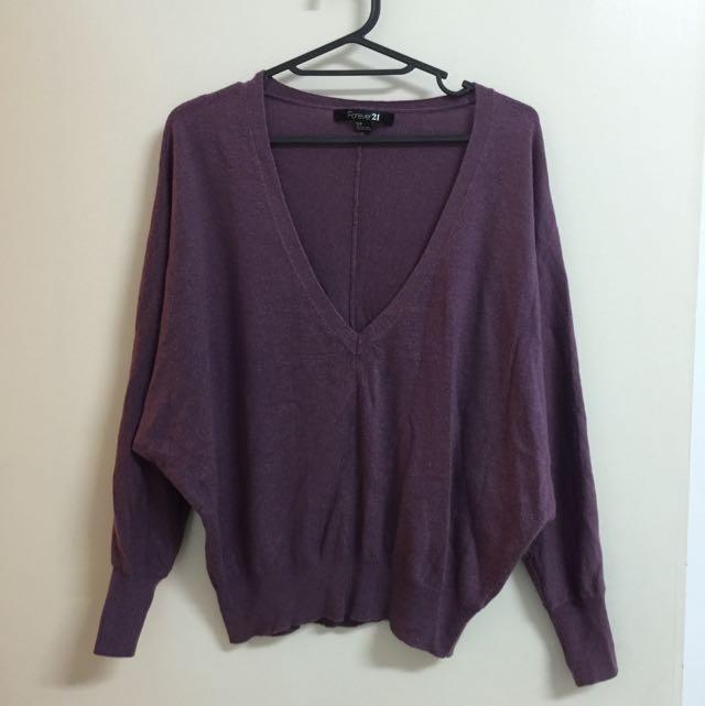 美國購入🇺🇸》Forever 21 紫色短上衣