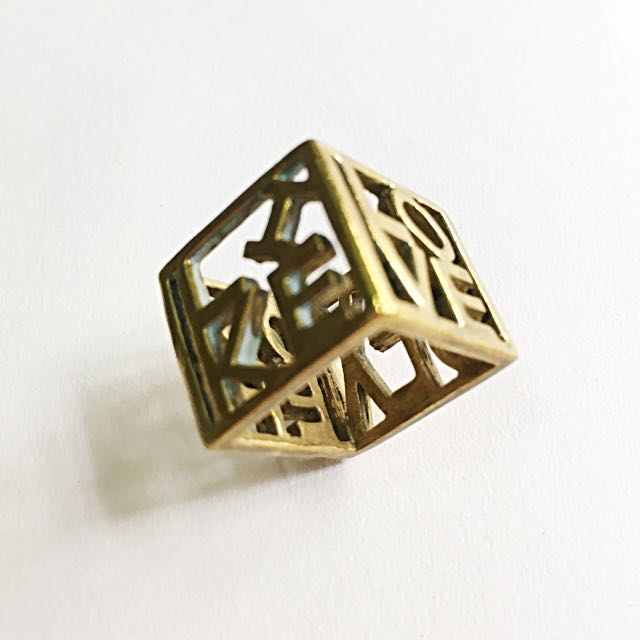 Four Sided Cube Ring