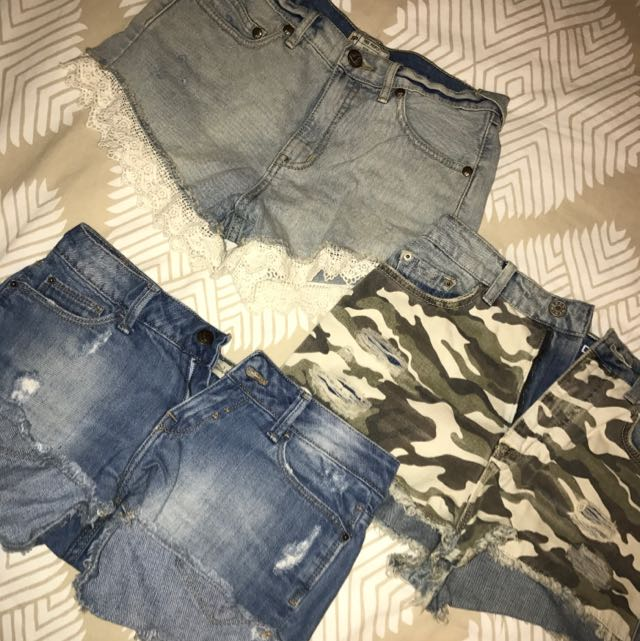 Free People, BDG & Zara Shorts