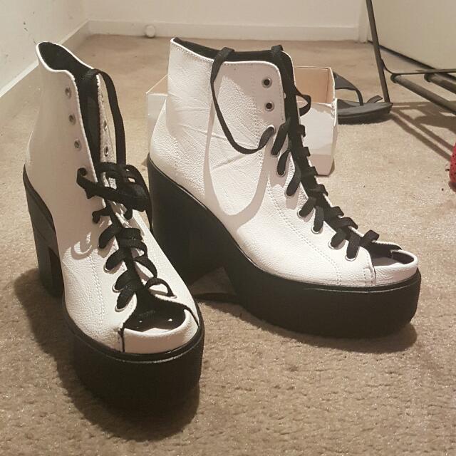 Heels Shoes White Sz 8.5 Topshop