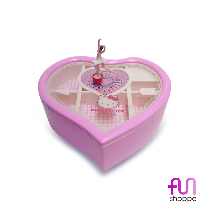Hello Kitty Heart-shaped Jewelry and Music Box