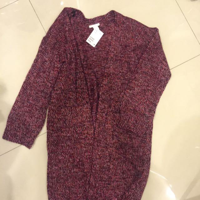 H&M長版針織外套