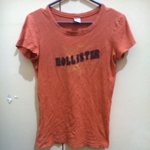 Hollister Orange Shirt 💯