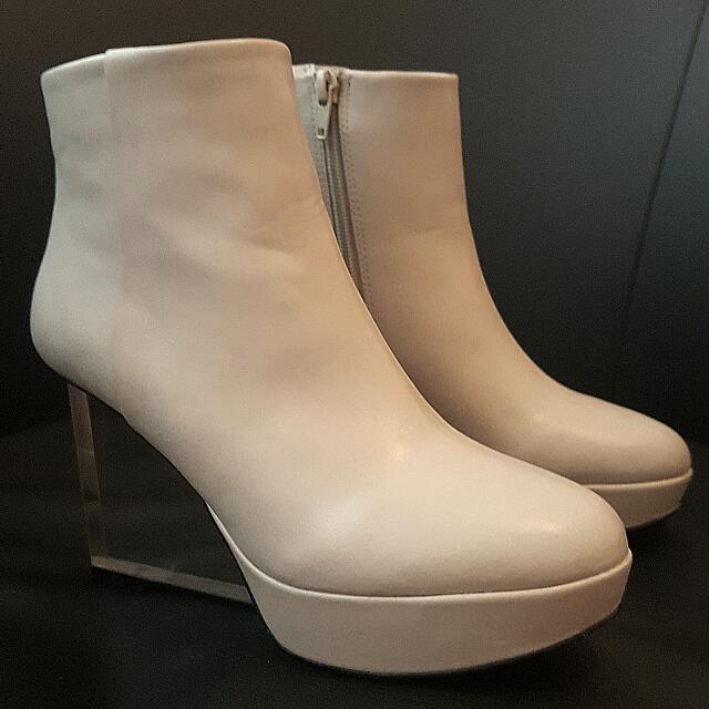 Kate Judith Clear Wedge Boots