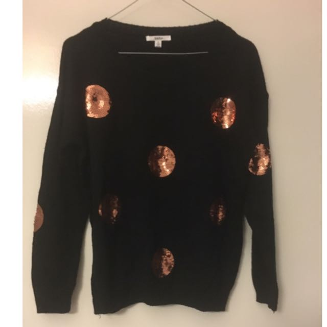 Knit Sweater With Sequins