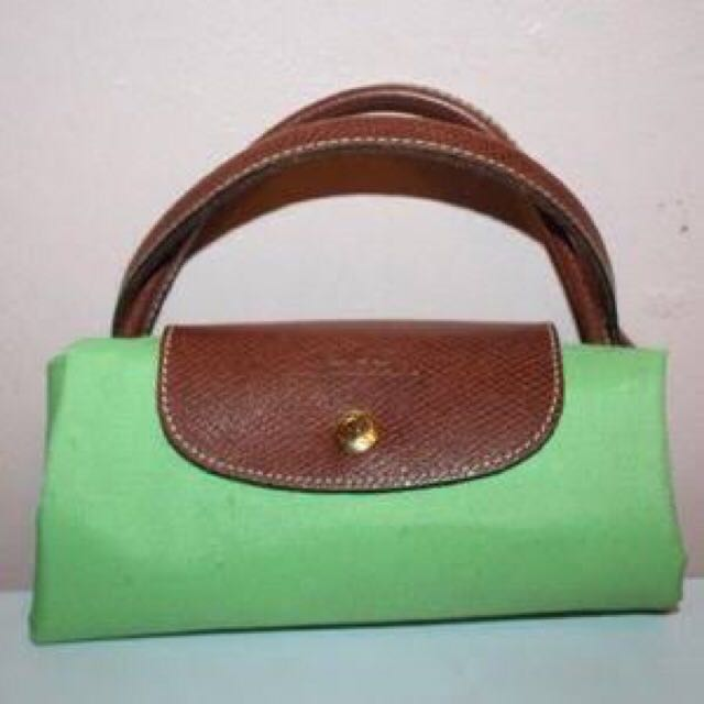 Longchamp Les Pliage Tote In Forrest Green