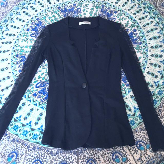 Mesh Sleeved Jacket