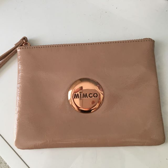 Mimco Dusty Pink/Nude Rose Gold Clutch Handbag Wristlet