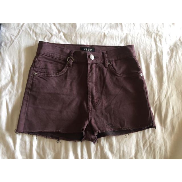 Neuw High Waisted Shorts