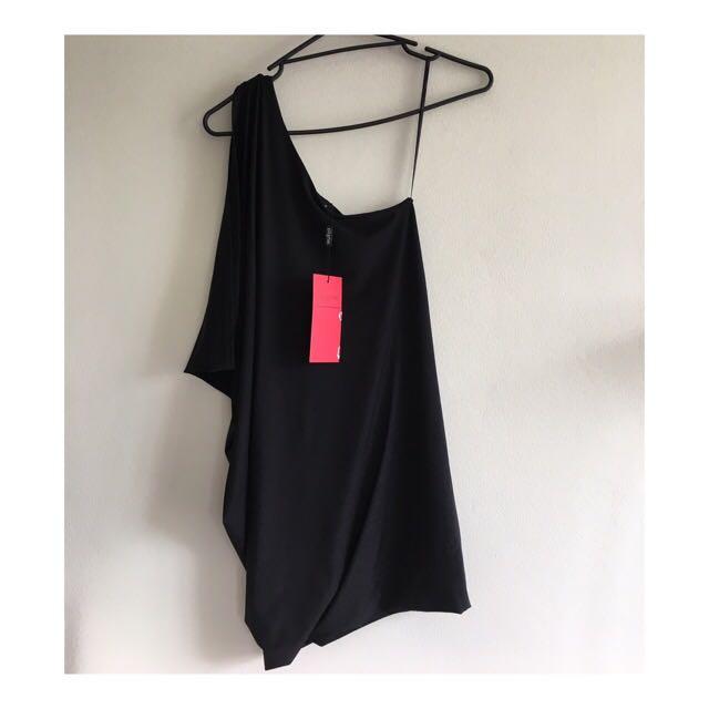 💙Pilgrim Black One Shoulder Dress Size 6