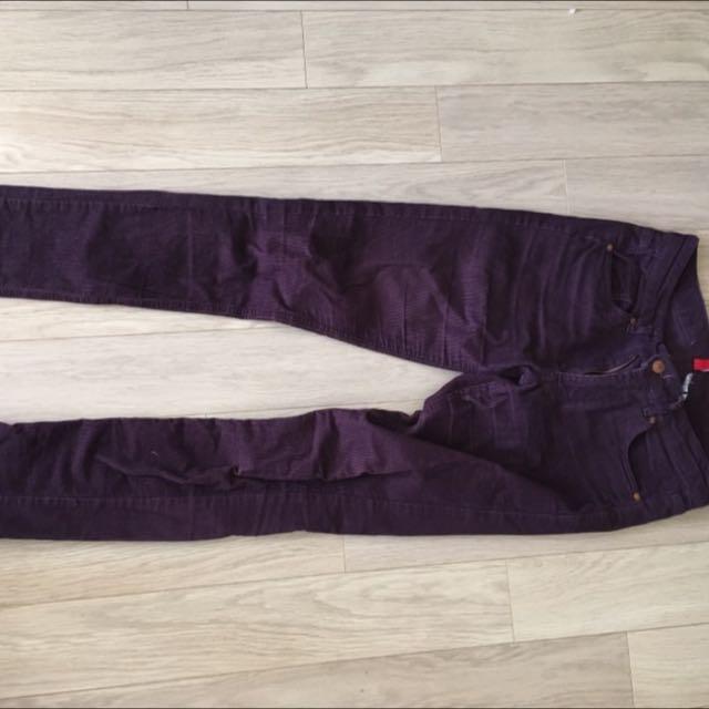 Purple Corduroy